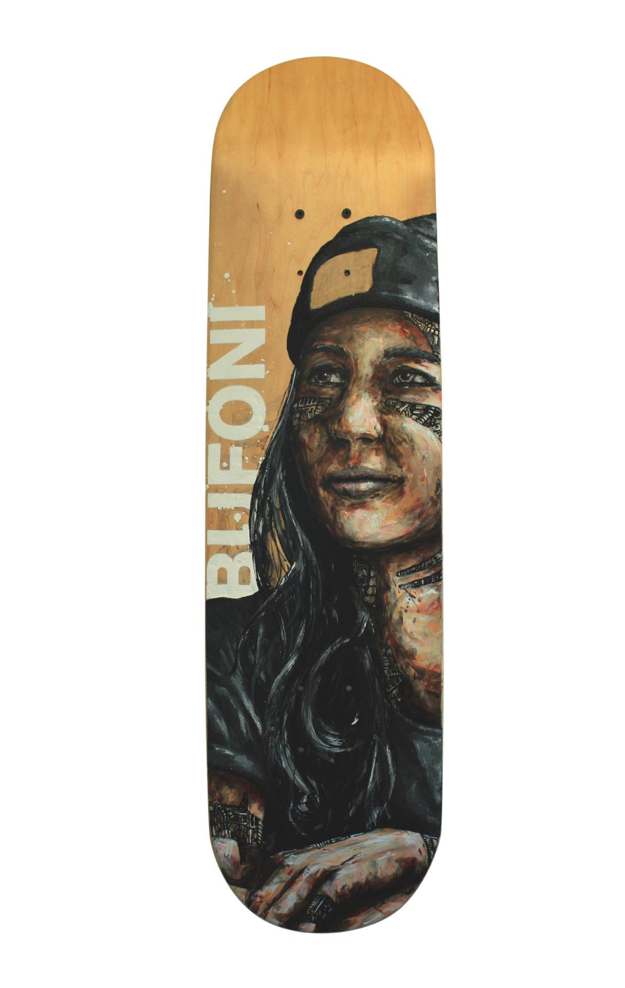 skateboard leticia bufoni peinture bois