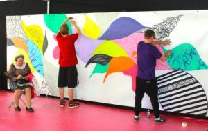 Graffiti live performance sakew