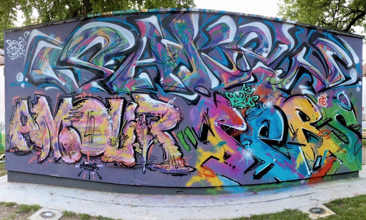 Fresque street art epinal