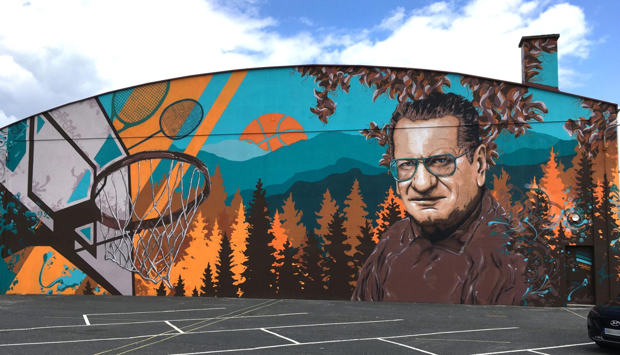 Fresque street art sakew mural